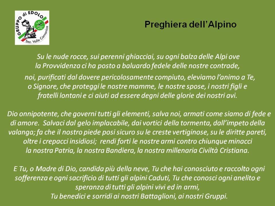 preghiera alpino