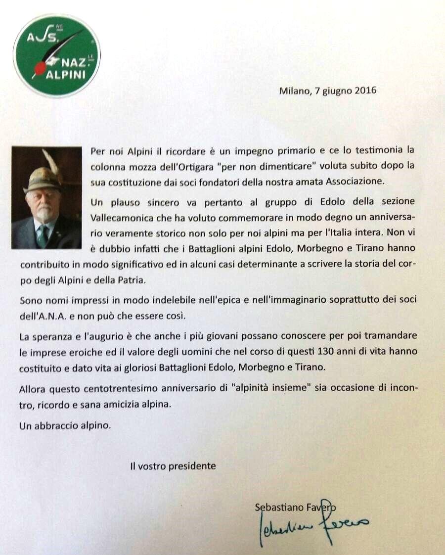 Lettera Favero a GAE (7.6.2016)